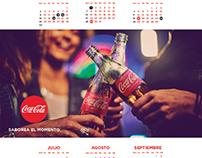 Calendario 2017. Coca Cola