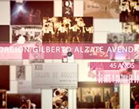 45 años Fundación Gilberto Alzate Avendaño