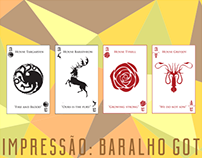[IMPRESSÃO] Baralho de Game of Thrones