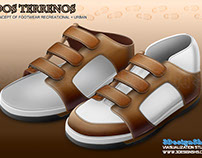 Concept of footwear recreational + urban