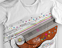 "Estampa de camiseta ""linemusic"""