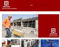 Archan Construcciones  -- Sitio web