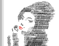 poster all type/ amy winehouse