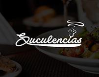 Logotipo y web para restaurant Suculencias