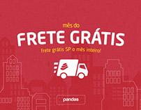 Campanha Frete Grátis | Pandas.com.br