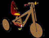 Triciclo pensado para Crianças com Síndrome de Down