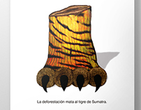 Afiche Greenpeace: Tigre de Sumatra / Poster Greenpeace