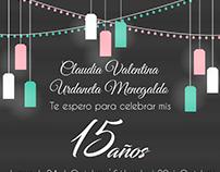 Invitación 15 años Claudia