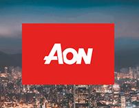 Dashboard Aon análisis riesgos de invercion