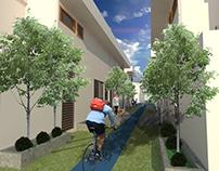 Eco-Habitat Compact Nodes Households+Public Spaces