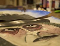"""Cuadro """"Pinguino"""" - serie Tim Burton"""