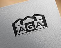Criação de Logo AGA Construção