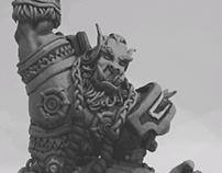 escultura de thrall (world of warcraft)