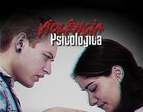 Cartaz sobre violência psicológica..