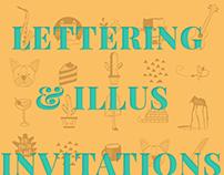 Wedding Invitation - Lettering & Illustration.
