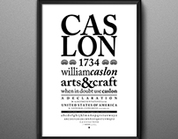 Afiche tipográfico Caslon