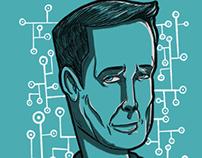 Elon Musk editorial ilustration