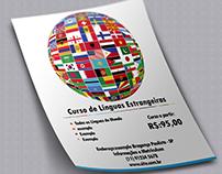 Flyer - Curso de Línguas Estrangeiras