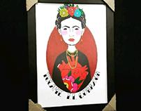 ilustrações Frida khalo