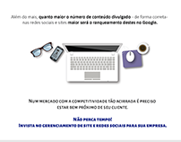 Newsletter - Redes Sociais e Sites.