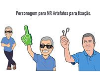 Personagem para NR Artefatos para fixação.