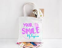 LETTERING and BAG