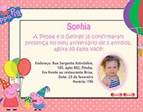 Convite aniversário - Sophia 2 anos