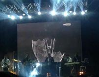 Visual para apertura de concierto de Los Huayra
