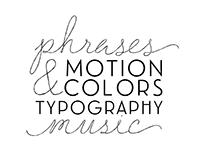 Motion Graphics; Colors, Music & Typography.