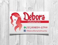Débora Cabeleireira business card