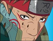 Ilustración de personajes de Naruto