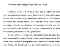 Artigo referente a Cursos Online