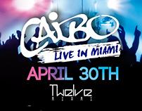 Diseño para el concierto de Caibo en Miami