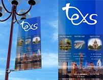 Campaña promocional Estado de TEXAS u.s con ligaduras