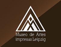 Identidad Visual para Museo de Artes  impresas Leipzig