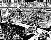 Animación para ilustración de Alejandro Riveros (JAR)