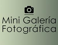 Mini Galería Fotográfica + Edición
