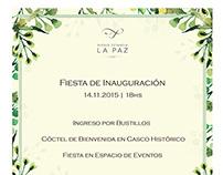Tarjeta inauguración