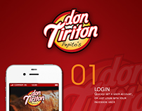 "App Design for fast food restaurant ""Don Tiriton"""