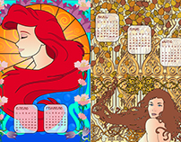 Calendario Art Nouveau