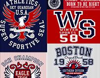 Diseño de  Estampado Vintage U.S.A