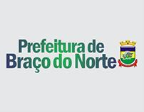 Anúncios da Prefeitura de Braço do Norte para revista