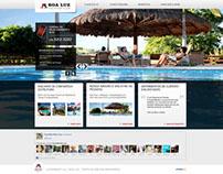 Projeto, desenho e montagem site Boa Luz Vacation Club