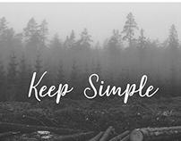 Keep Simple, UI/UX Web design. Template, theme.
