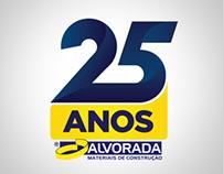Marca promocional 25 anos Alvorada