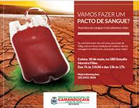 Coleta de sangue para Prefeitura de Camandu