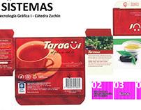 Muestrario de sistema de impresión (packaging)