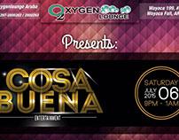 Diseños para Oxygen Lounge (Aruba).