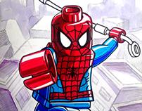 Lego Sketch spiderman