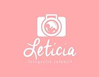 Logomarca Letícia fotografia infantil